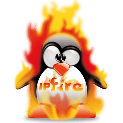 Burning linux penguin